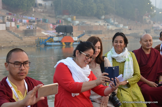 The woman in red is Tsering, the woman next to her is photographer and India/San Francisco resident Briana Blasko and the woman in green is the head of LBDFI, Wangmo Dixey
