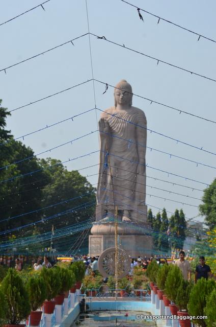 A giant Buddha in Sarnath