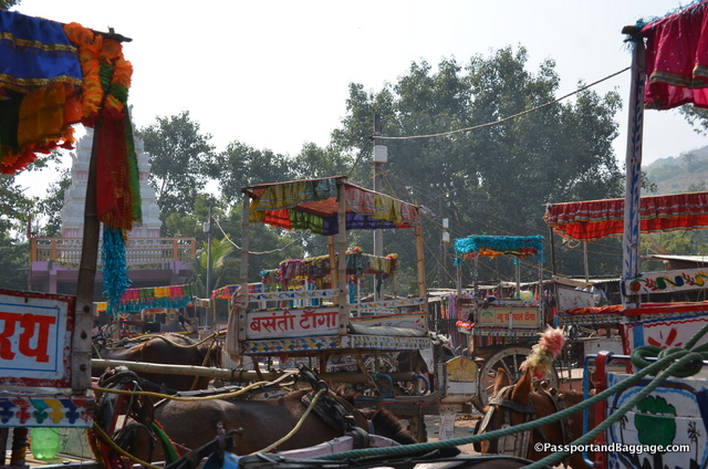 The main for of transportation in Rajgir is the horse drawn cart.