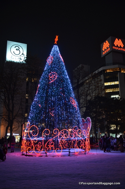 Christmas Eve in Sapporo Japan