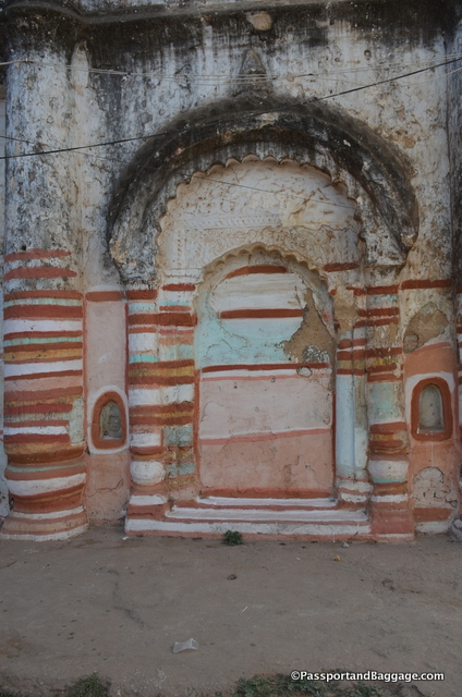A fun painted arch in one of the structures