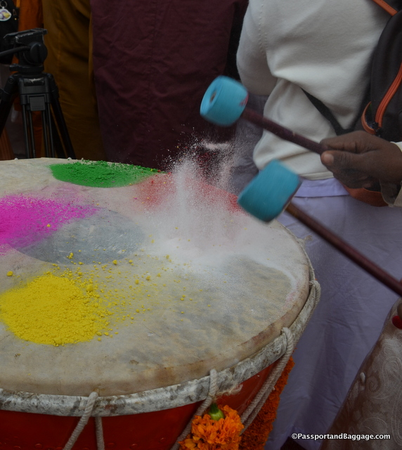 The drums beat for the opening ceremony.
