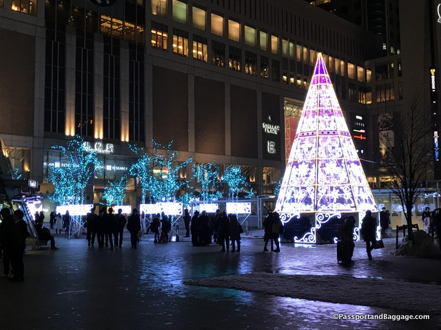 Minami 1-jo dori, in front of the JR Tower shopping mall also has a lovely light display as well, and it is up until March 14th
