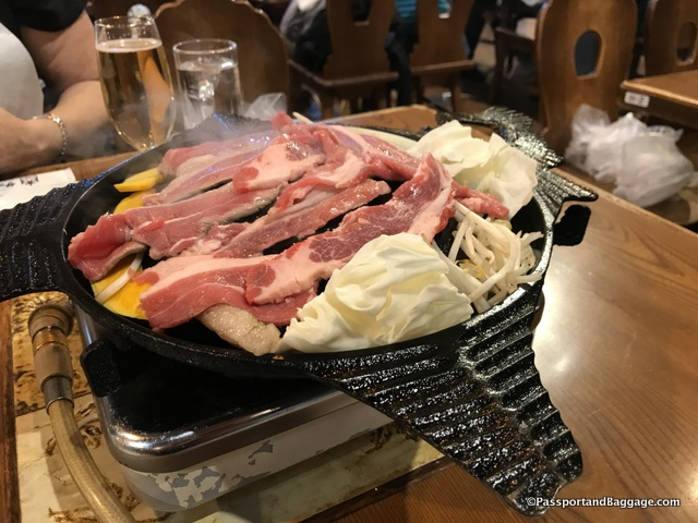 Sapporo Beer Garden Genghis Khan meal