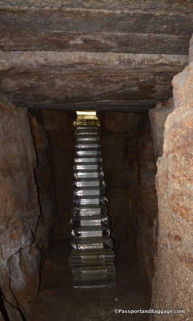 The stairway underground