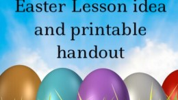 Salvation Eggs: printable kids easter lesson