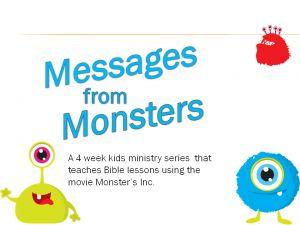 4 week kids ministry curriculum series