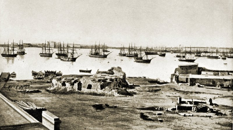 Alexandria Harbor Egypt about 1892