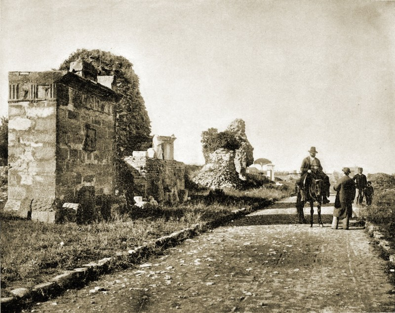 Appian Way Rome Italy about 1892