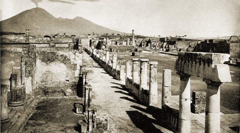 Forum Pompeii Italy about 1892