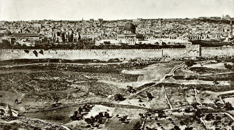 Jerusalem from Mount of Olives Israel about 1892