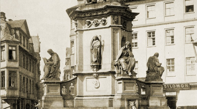 Johann Gutenberg Monument Frankfurt am Main Germany about 1892