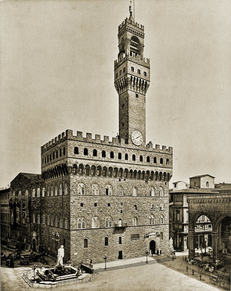 Palazzo Vecchio Florence Italy about 1892