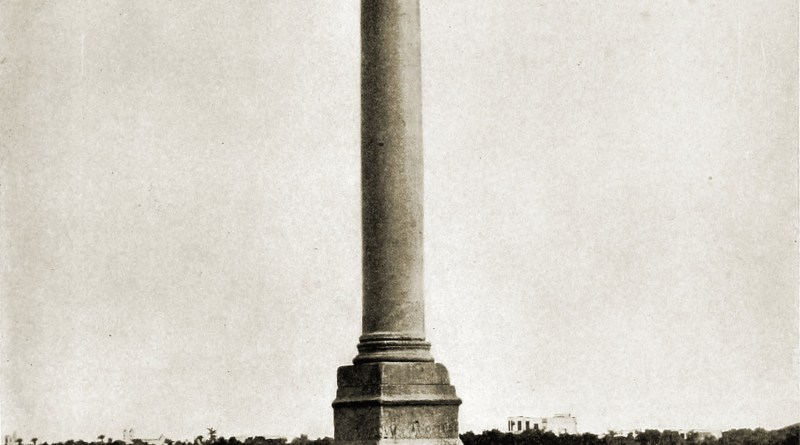 Pompey's Pillar Alexandria Egypt about 1892