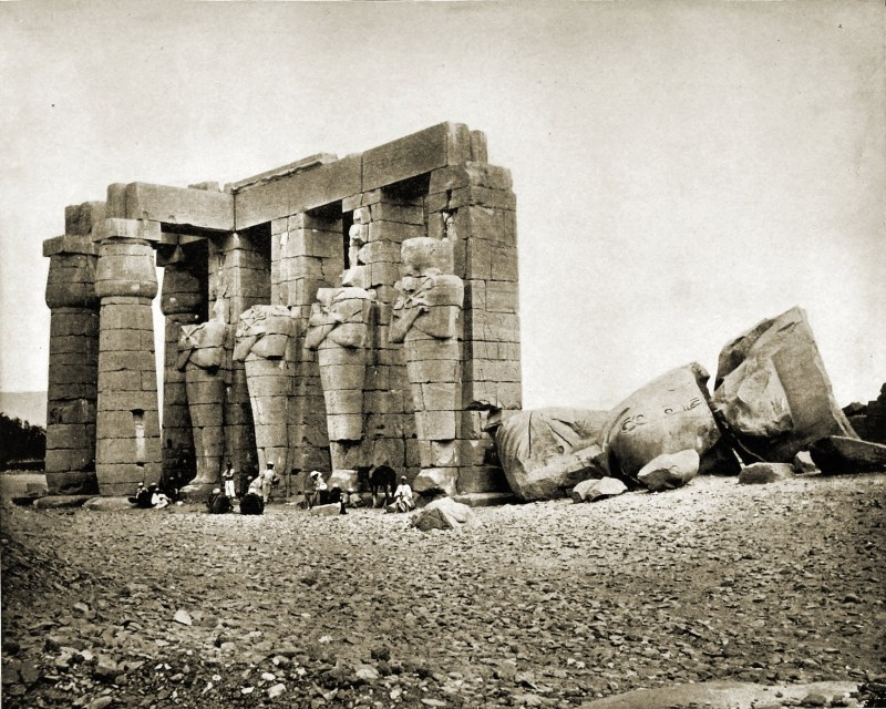 Ruins Thebes Egypt about 1892