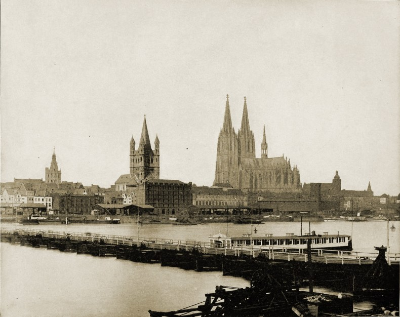 The Rhine and Cologne Germany about 1892