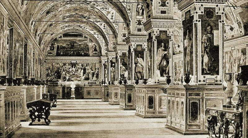 Vatican Library Vatican City about 1892
