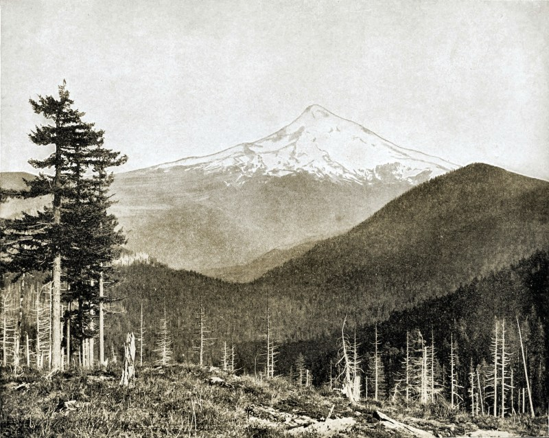 Mount Hood, Oregon, USA about 1892