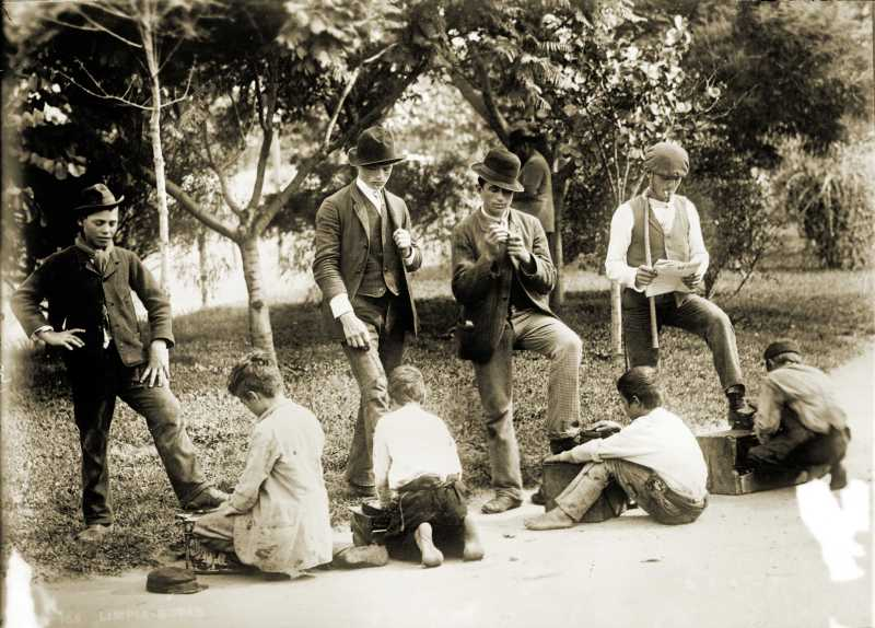 Shoeshine Boys Buenos Aires Argentina about 1913