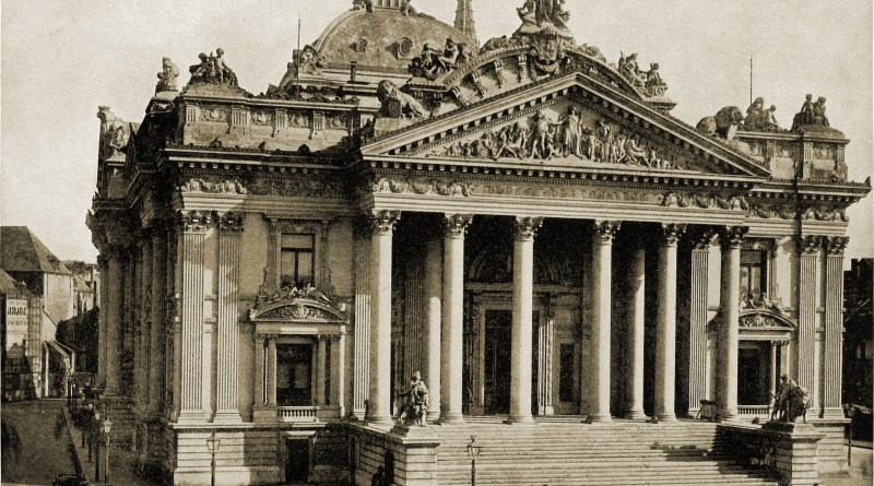 The Bourse Brussels Belgium about 1892
