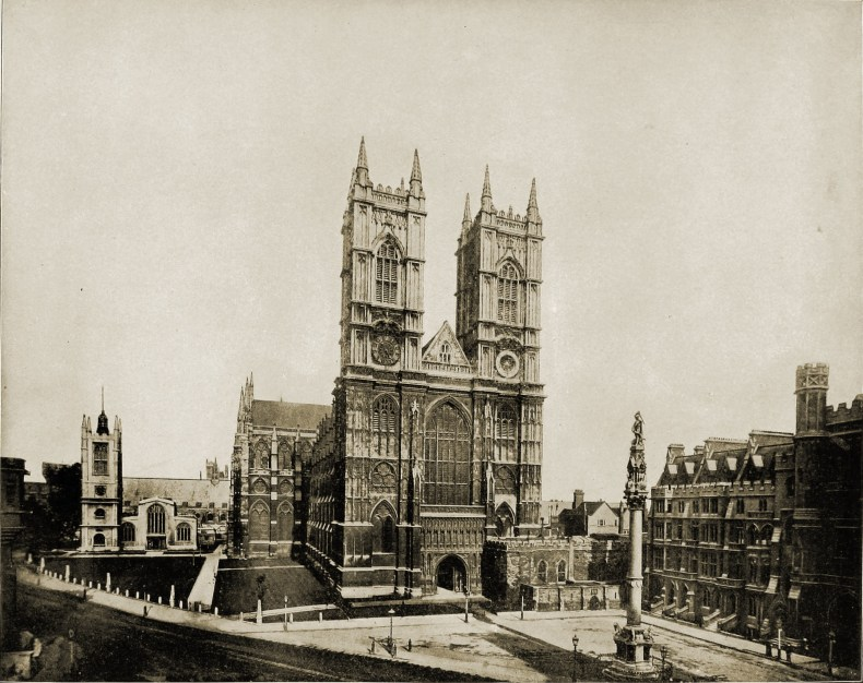 Westminster Abbey London England about 1892
