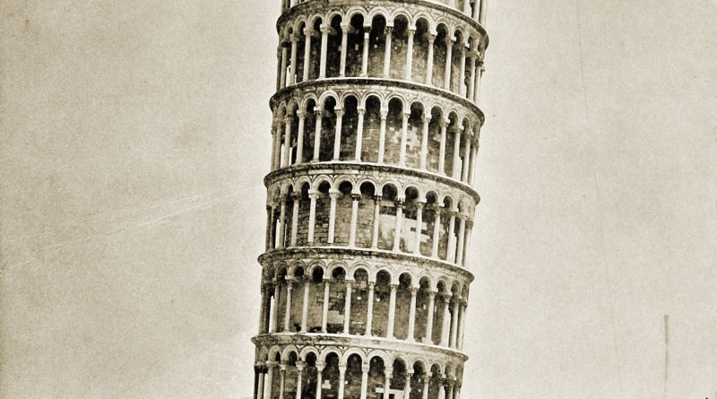 Leaning Tower Pisa Italy about 1892