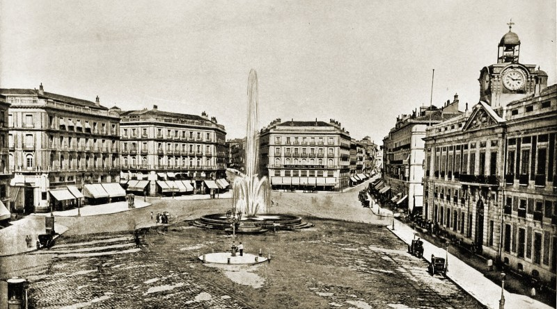 Puerta del Sol Madrid Spain about 1892