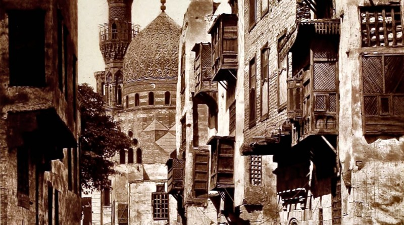 Street in Cairo, Egypt about 1875