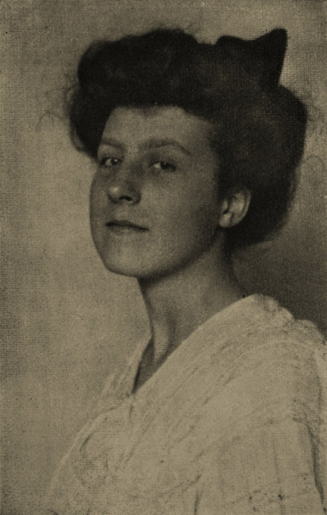 A woman by J. M. Sellors about 1908