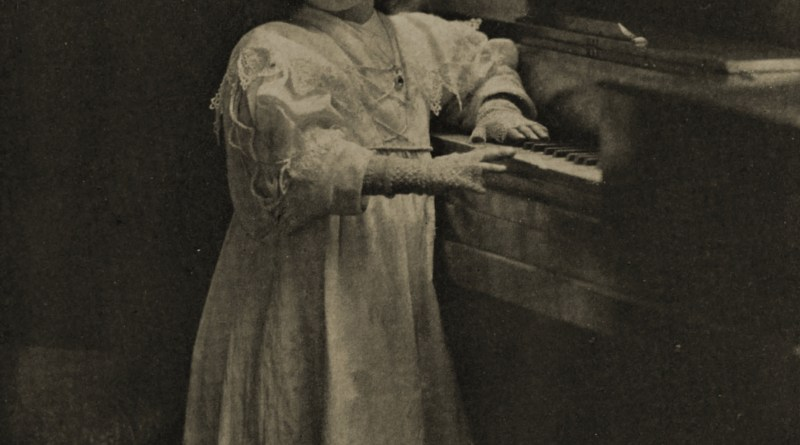 On the piano by William Crooke about 1908