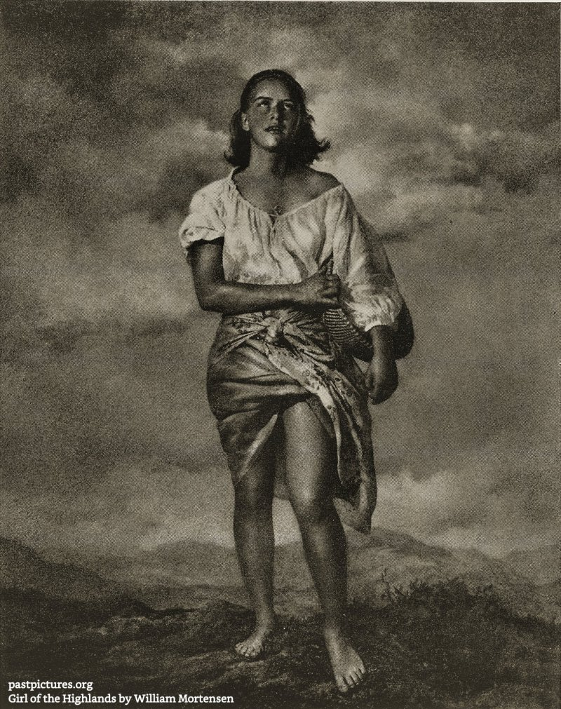 Girl of the Highlands by William Mortensen about 1930