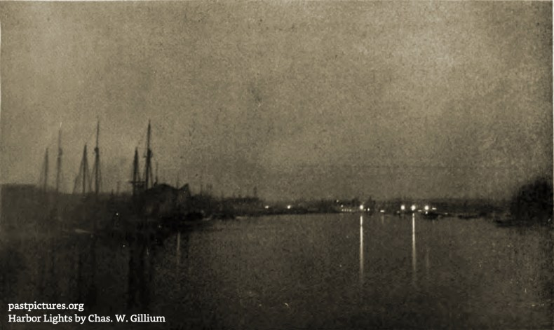 Harbor Lights by Chas. W. Gillium about 1909