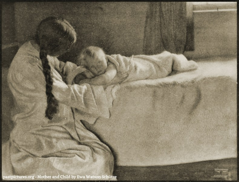 Mother and Child by Ewa Watson Schütze about 1908