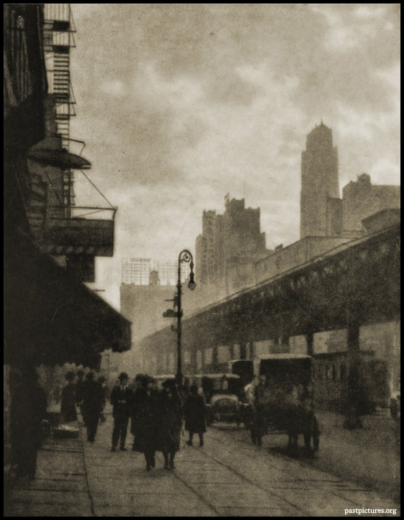 Sixth Avenue, New York City by Ben Jehudah Lubschez about 1922