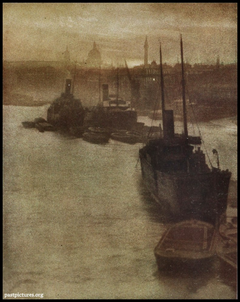 The Thames by E. Warner about 1908