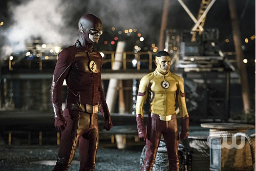 FLA301a_0110b.jpg -- Pictured (L-R): Grant Gustin as The Flash and Keiynan Lonsdale as Kid Flash -- Photo: Katie Yu/The CW -- © 2016 The CW Network, LLC. All rights reserved.