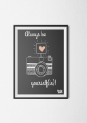 Babykamerposter_kinderkamer_yourself_quote_grijs_pastylabel
