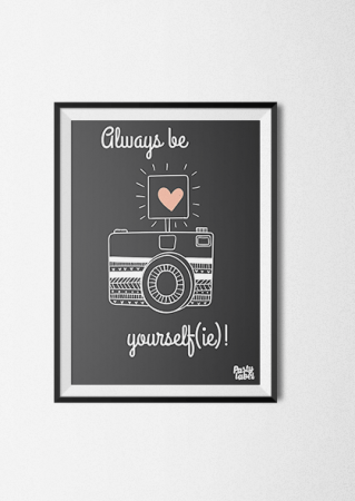quote always be yourself poster kinderkamer
