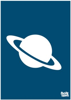 poster planeet donkerblauw