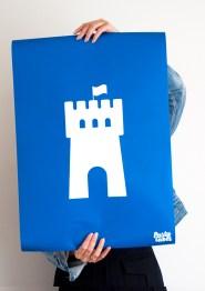 Wanddecoratie-kinderkamer-poster-blauw-kasteel