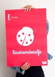 Wanddecoratie-kinderkamer-poster-rood-lieveheersbeestje