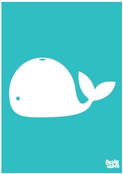poster zeedieren walvis turquoise