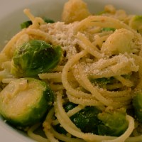 Pasta with Cauliflower and Brussels Sprouts