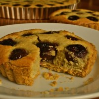 Napa and Sonoma + Bing Cherry and Almond Tart
