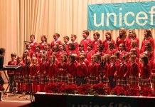 Actuación del coro de Santo Tomás de Aquino