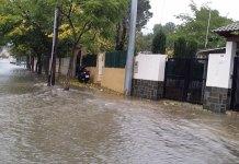 El barranco del Rubio durante las lluvias del 2 de noviembre