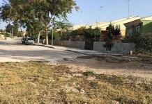 Imagen de la parte final del tramo asfaltado de Barranco del Rubio que podrían verse perjudicados por las obras provisionales