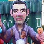 El alcalde de Paterna, Juan Antonio Sagredo, representado en uno de los ninots de Colom d'Or