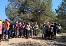 Instante del recorrido por el PR de La Canyada