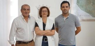 Fernández, Piquer y Sagredo durante la reunión